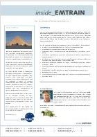 EMTRAIN Newsletter, 12th Edition, January/February/March 2013
